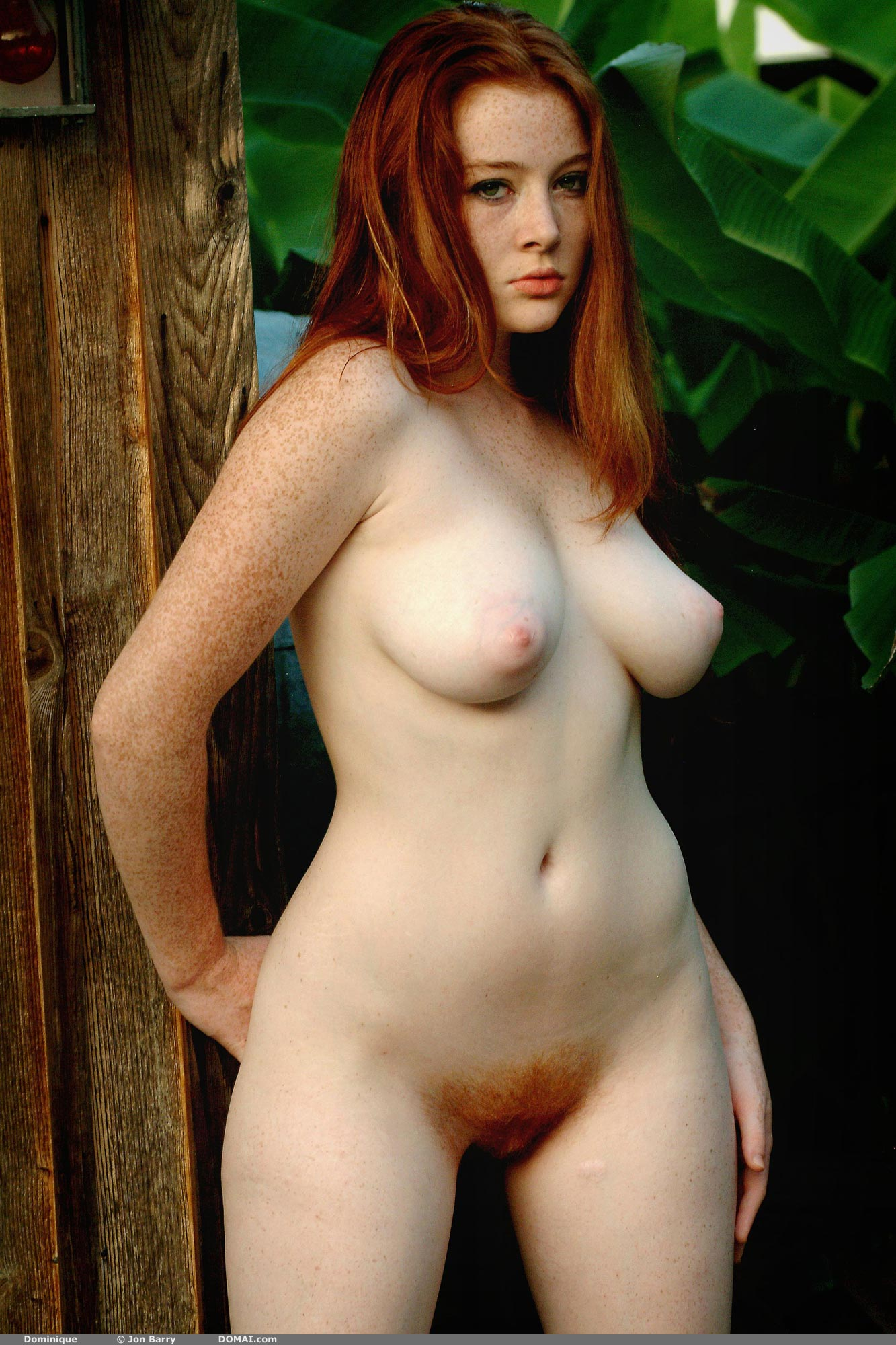 Red hair female nude — photo 14