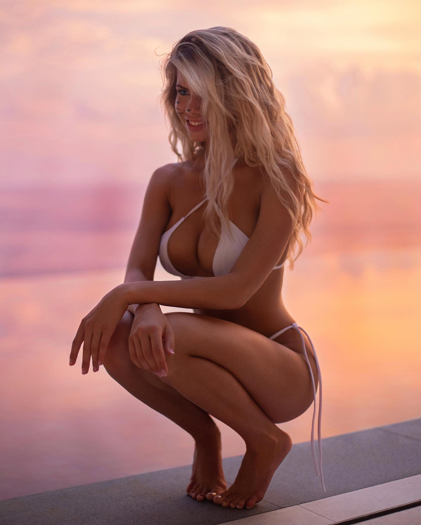 Изображение помечено: Skinny, Blonde, Busty, Nata Lee, Bikini, Cute, Smiling