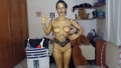 Изображение помечено: Brunette, Camgirl, GweenBlack, nood.tv, Body painting